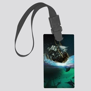 Kraken Attack Large Luggage Tag