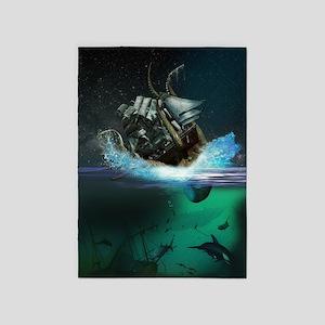 Kraken Attack 5'x7'Area Rug