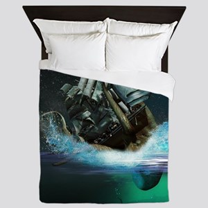 Kraken Attack Queen Duvet