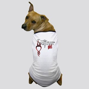 Biker Girl Dog T-Shirt