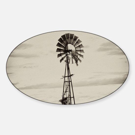 Iowa Farm Windmill Sticker (Oval)