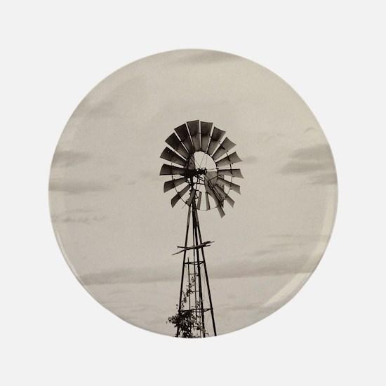 Iowa Farm Windmill Button