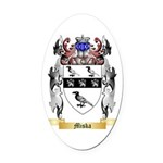Miska Oval Car Magnet