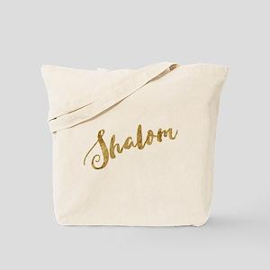 Golden Look Shalom Tote Bag