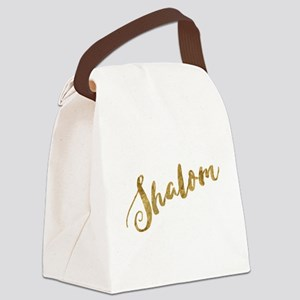 Golden Look Shalom Canvas Lunch Bag