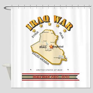 Iraq War Shower Curtain