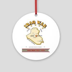 Iraq War Round Ornament