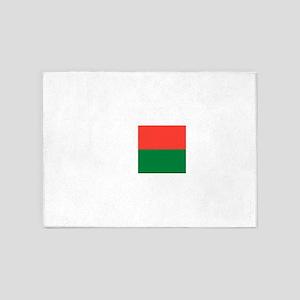 Madagascar Flag 5'x7'Area Rug