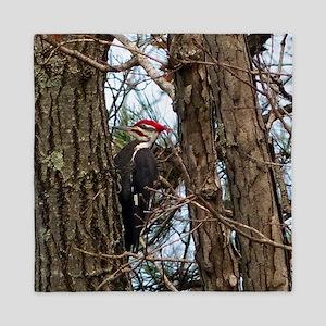 Male Pileated Woodpecker Queen Duvet