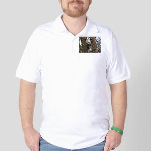 Male Pileated Woodpecker Golf Shirt