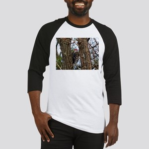 Male Pileated Woodpecker Baseball Jersey
