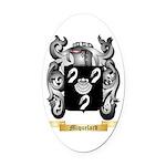 Miquelard Oval Car Magnet
