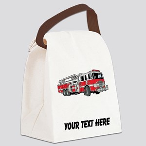 Fire Truck (Custom) Canvas Lunch Bag