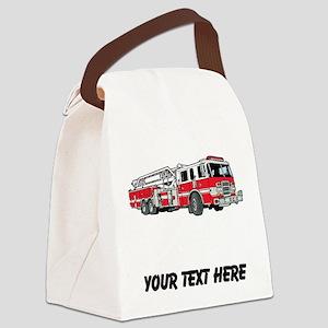 Fire Truck (Custom) Canvas Lunch Bag