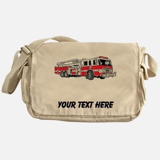Fire Truck (Custom) Messenger Bag