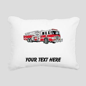 Fire Truck (Custom) Rectangular Canvas Pillow