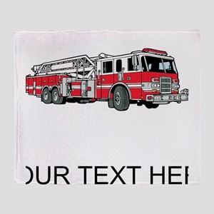 Fire Truck (Custom) Throw Blanket