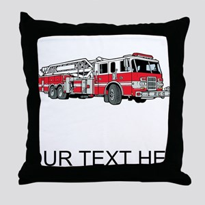 Fire Truck (Custom) Throw Pillow