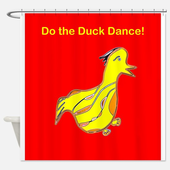 Red Do the Duck Dance 4Emma Shower Curtain