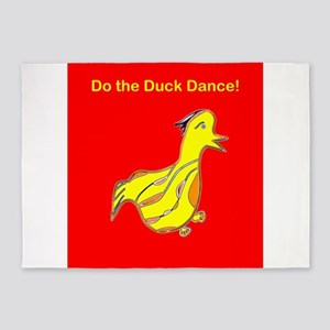 Red Do the Duck Dance 4Emma 5'x7'Area Rug