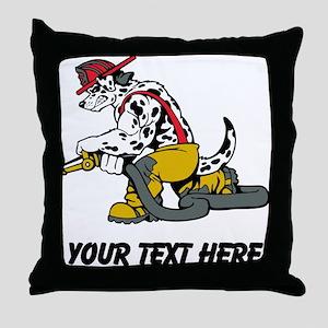 Fire Dog (Custom) Throw Pillow