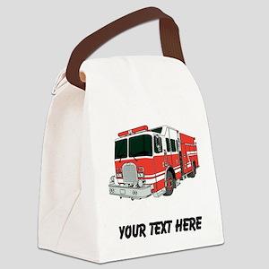 Firetruck (Custom) Canvas Lunch Bag