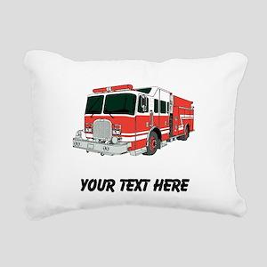 Firetruck (Custom) Rectangular Canvas Pillow