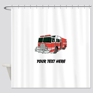 Firetruck Custom Shower Curtain