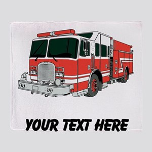 Firetruck (Custom) Throw Blanket
