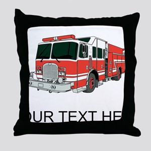 Firetruck (Custom) Throw Pillow