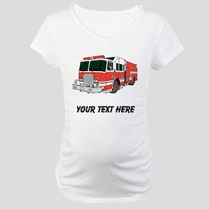 Firetruck (Custom) Maternity T-Shirt