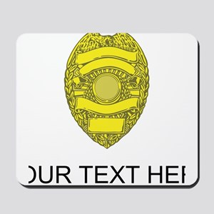 Police Badge (Custom) Mousepad