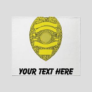 Police Badge (Custom) Throw Blanket