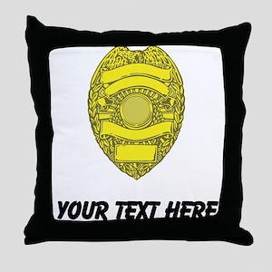 Police Badge (Custom) Throw Pillow