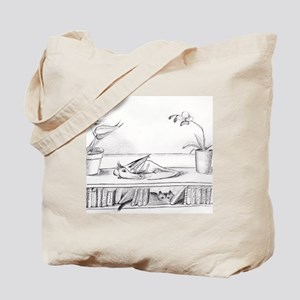 Library Dragon Tote Bag