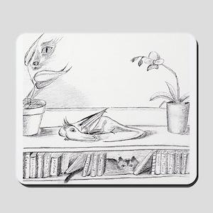 Library Dragon Mousepad