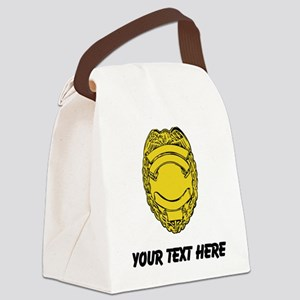 Police Badge (Custom) Canvas Lunch Bag