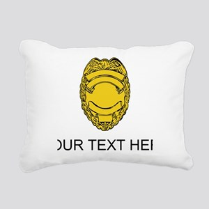 Police Badge (Custom) Rectangular Canvas Pillow