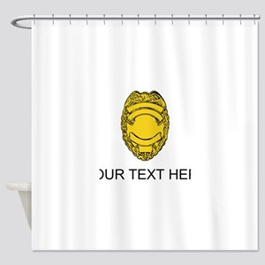 Police Badge (Custom) Shower Curtain