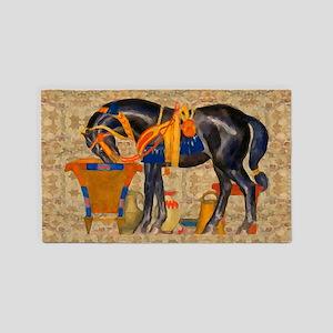 Egyptian Horse Area Rug