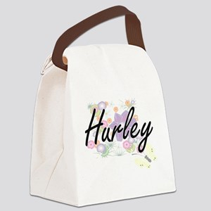 Hurley surname artistic design wi Canvas Lunch Bag