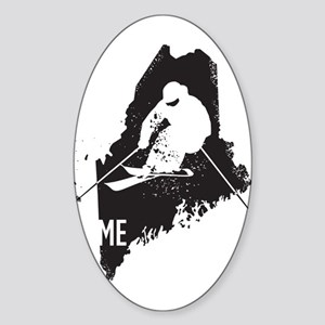 Ski Maine Sticker (Oval)