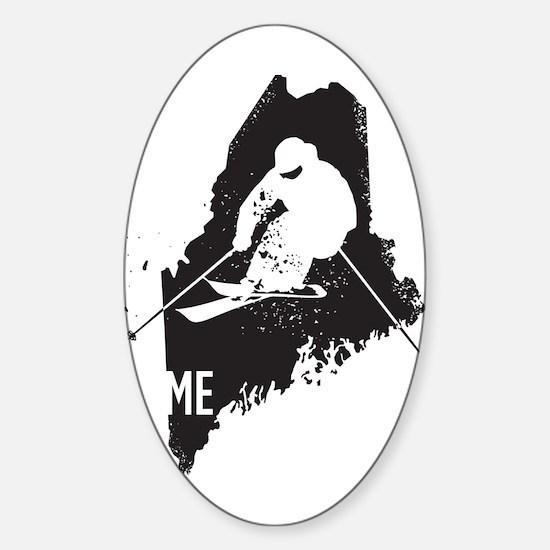 Ski Maine Sticker (Oval)