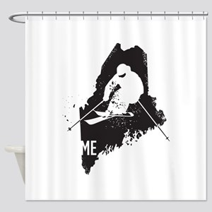 Ski Maine Shower Curtain