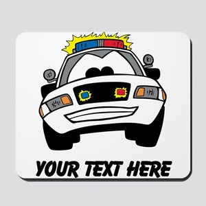 Cartoon Police Car (Custom) Mousepad