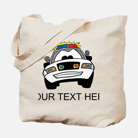 Cartoon Police Car (Custom) Tote Bag