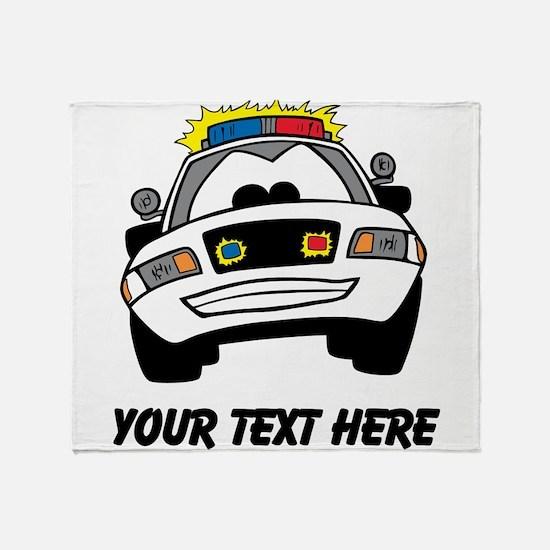 Cartoon Police Car (Custom) Throw Blanket