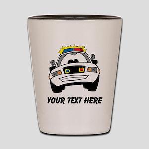 Cartoon Police Car (Custom) Shot Glass