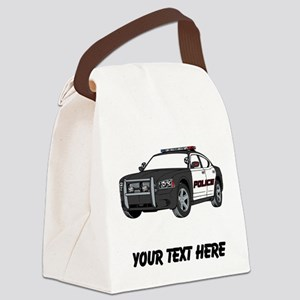 Police Car (Custom) Canvas Lunch Bag