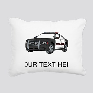Police Car (Custom) Rectangular Canvas Pillow